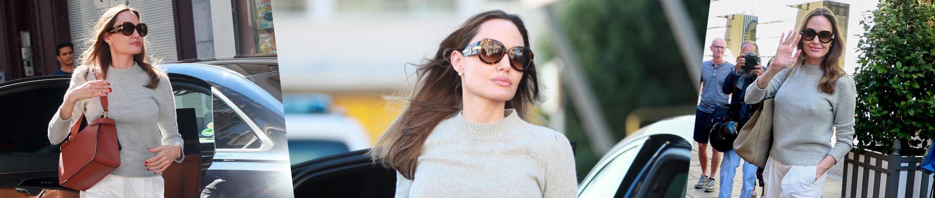 El look con básicos de Angelina Jolie (que podés copiar)