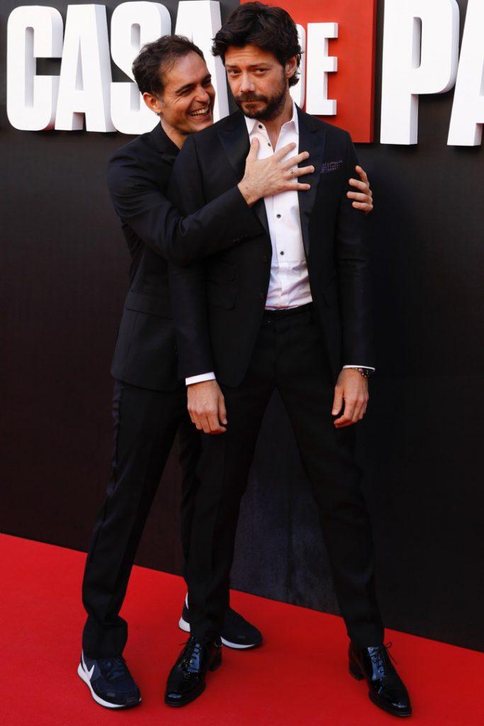 Pedro Alonso y Alvaro Morte