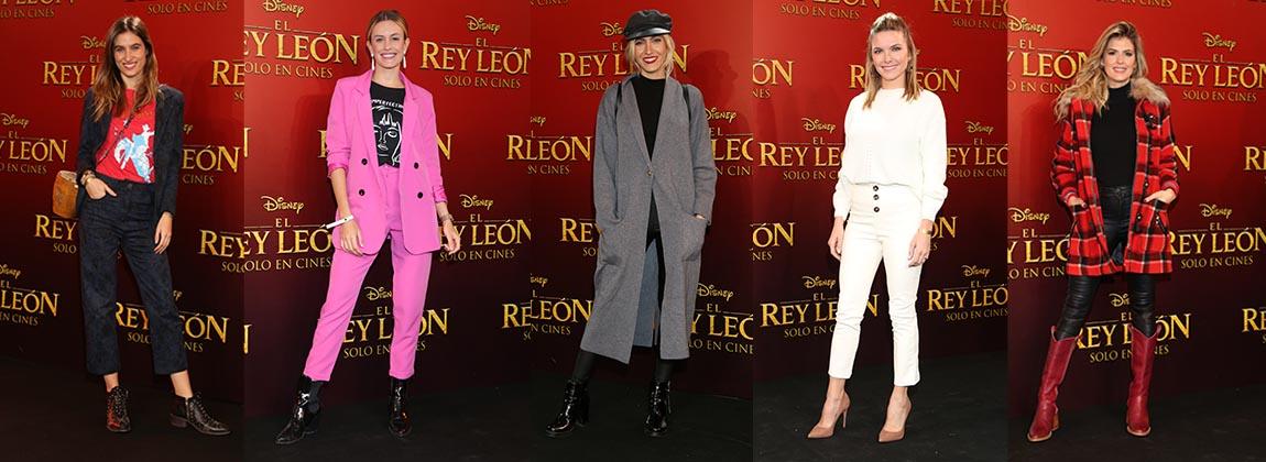 Tendencias de moda en la premiere de El Rey León