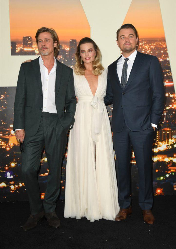 Margot Robbie Leo DiCaprio Brad Pitt