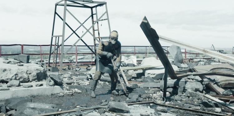 """Uno de los liquidadores, encargado de """"limpiar"""" de grafitos la zona pegado al reactor nuclear."""