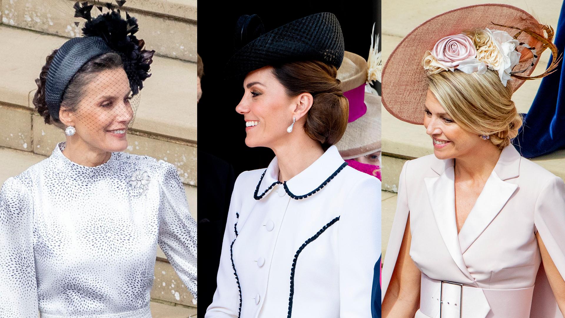 Letizia, Kate y Máxima eligieron tres maneras distintas de llevar el pelo recogido. Tres peinados para copiar.