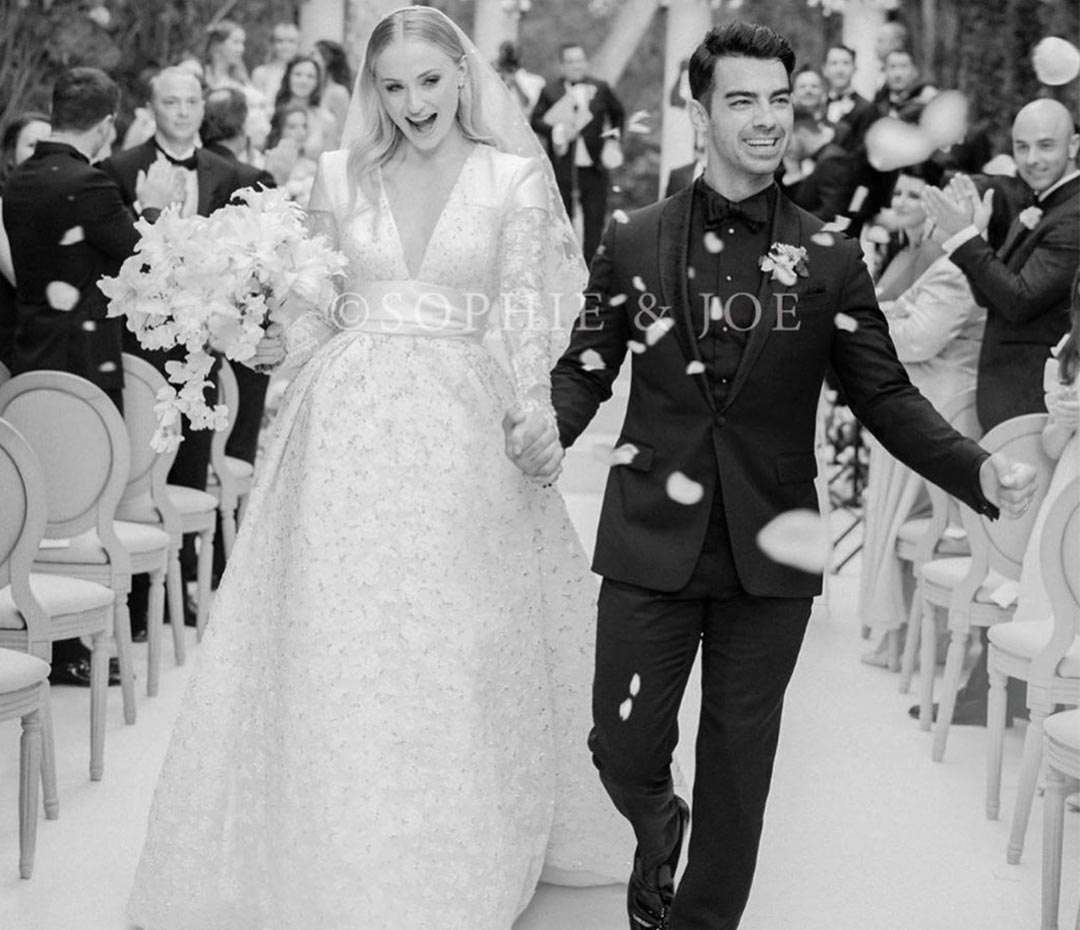 El espectacular vestido de novia de Sophie Turner
