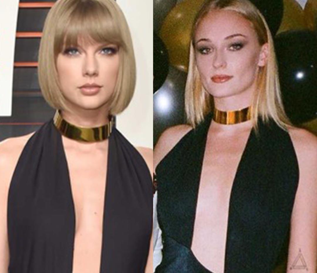 Mismo amor, mismo vestido (o la terrible coincidencia entre Taylor Swift y Sophie Turner)