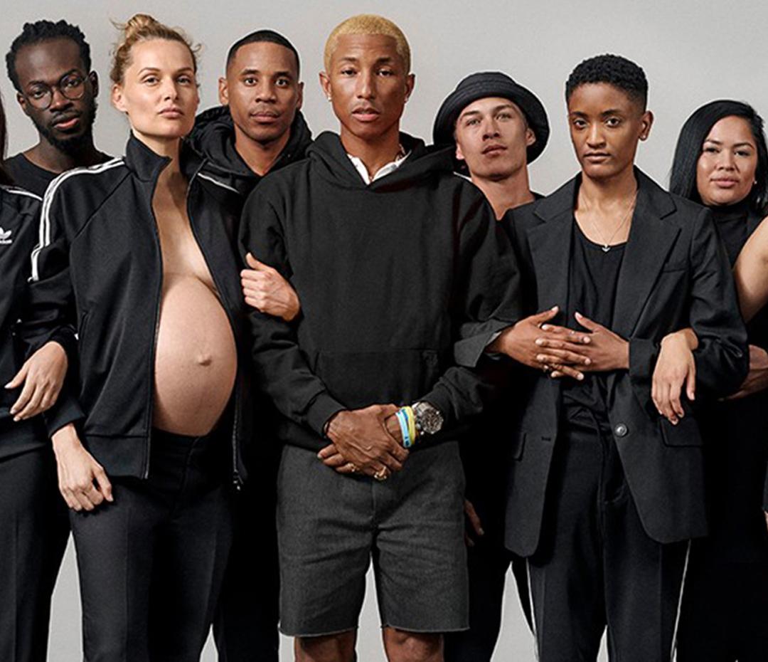 Pharrell Williams y su equipo de mujeres poderosas