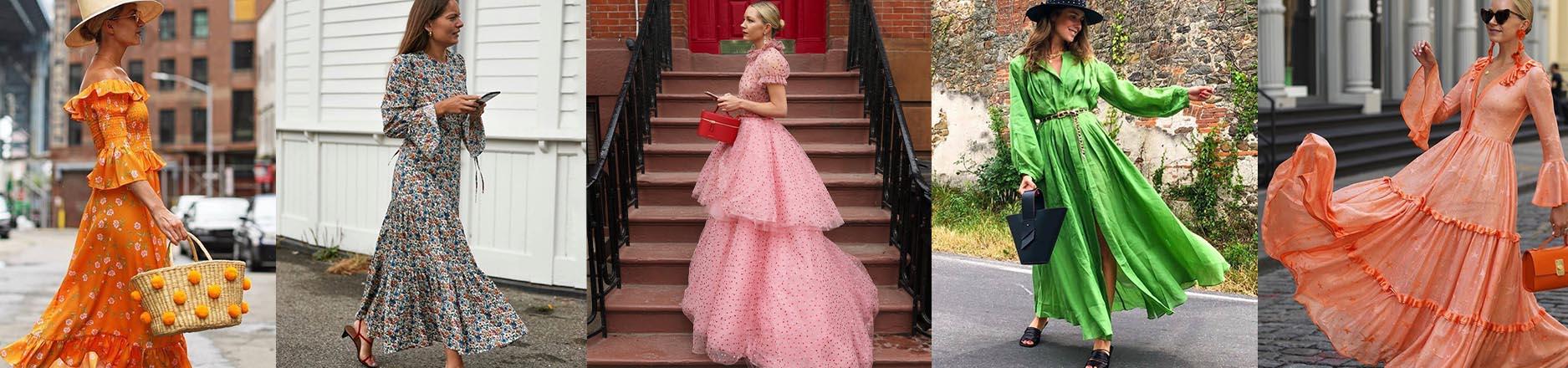 """Efecto """"Mujercitas"""": El vestido romántico (o prairie dress) se instala en el street style y es tendencia"""