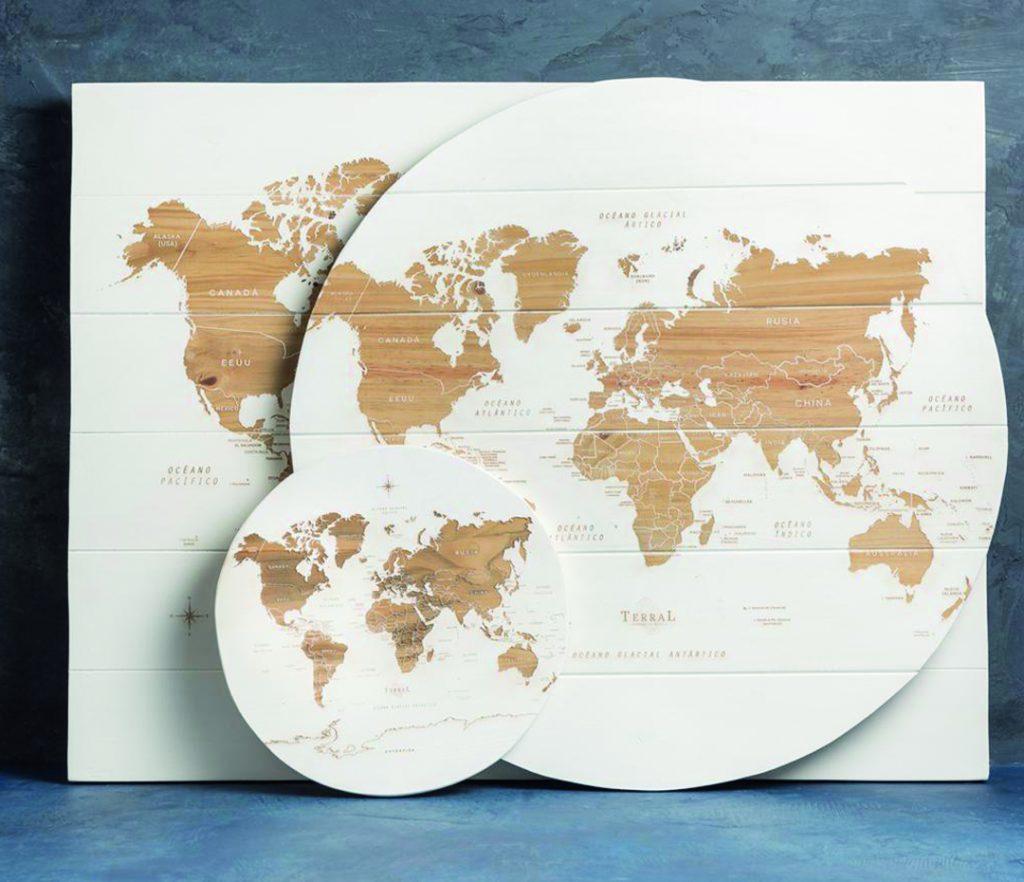 Los planisferios y mapamundis de Terral recorren el mundo