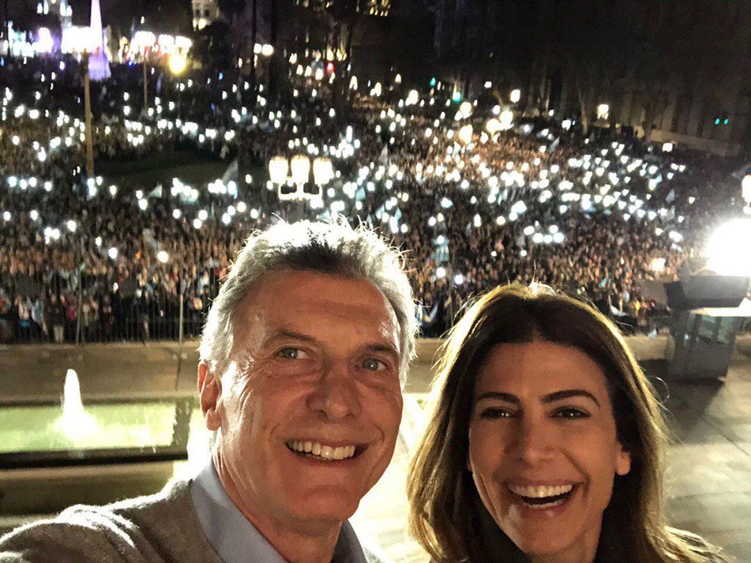 El apoyo de Juliana Awada a Mauricio Macri en el #24A