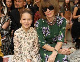 Harper Beckham desfile Victoria Beckham Anna WIntour