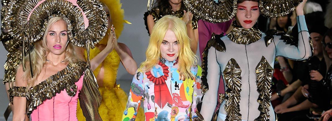 Pam Hogg rompió el hielo en la Semana de la Moda de Londres