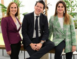 Valeria Mazza, Javier Comba y Julieta López, representantes del programa Nación Emprende de Banco Nación.