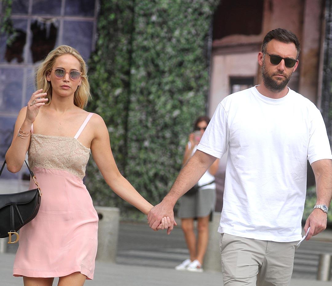El casamiento de Jennifer Lawrence: íntimo y con