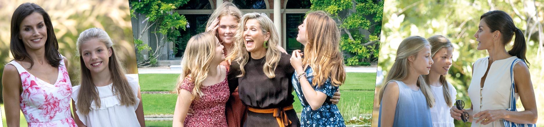 Reinas madres siglo XXI: cómo crían y educan a sus hijas Máxima y Letizia