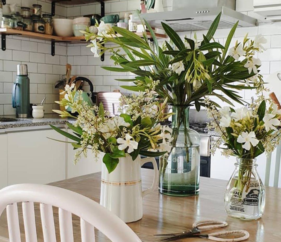 Cómo decorar tu casa con flores (sin gastar un peso)