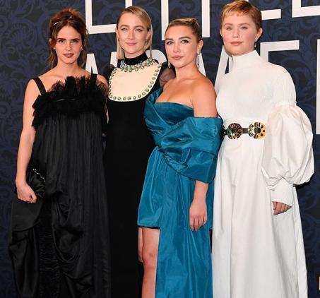 """La premiere de """"Mujercitas""""… o la noche del vestido negro de Emma Watson"""
