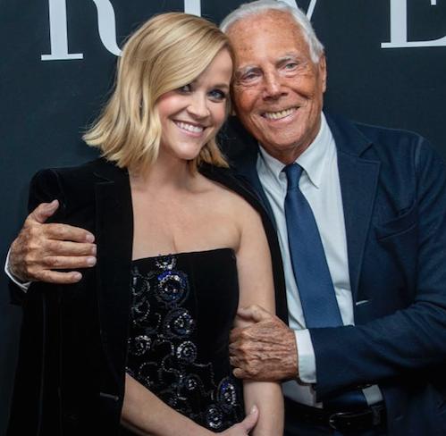 Reese Witherspoon: una star de Hollywood en el desfile de Armani Alta Costura 2020