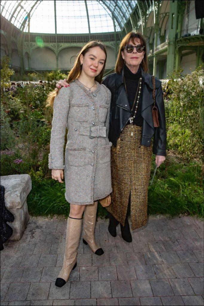 Carolina de Mónaco y su hija, Alexandra de Hannover, amigas de la casa Chanel.