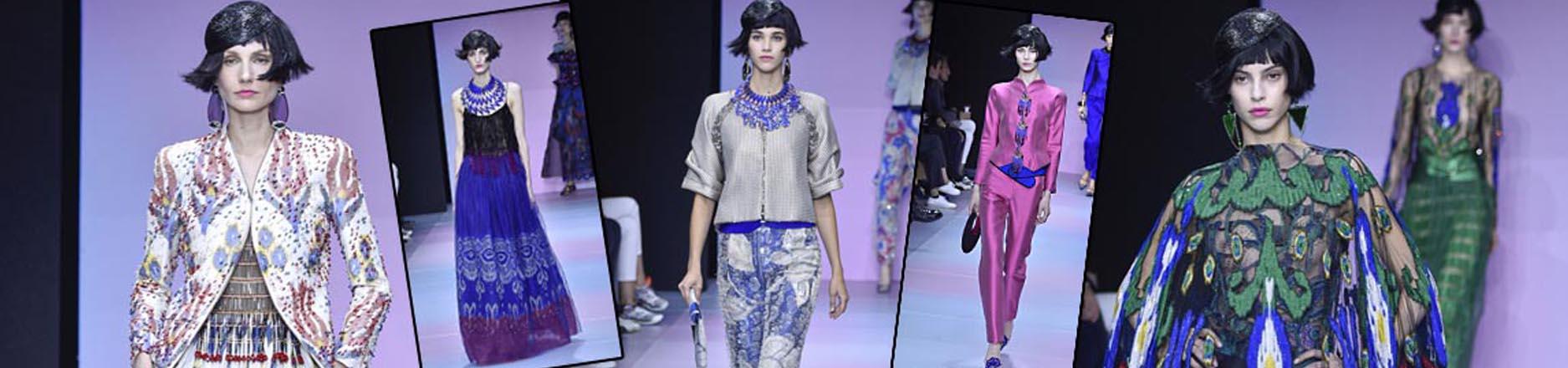 El video con los ítems de la colección Primavera-Verano Alta Costura 2020 de Armani Privé