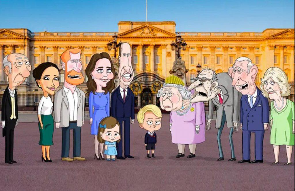 La primera imagen oficial de la serie animada The Prince difundida por HBO Max sobre la familia real británica desde la mirada del pequeño príncipe George. Foto: Fotonoticias.