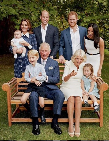 FAMILIA REAL BRITANICA WILLIAM ISABEL CARLOS GEORGE REINA