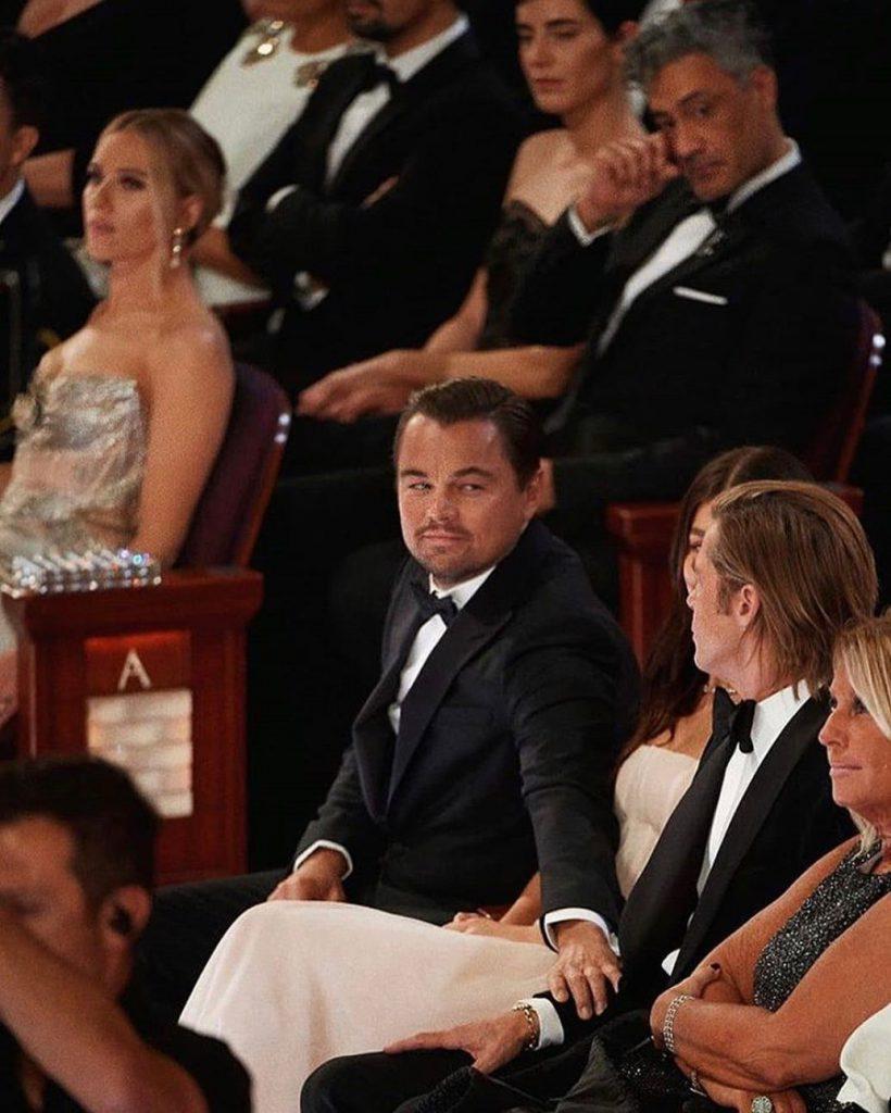 Leo Di Caprio y Brad Pitt. Foto: Instagram.