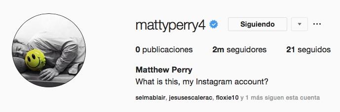 MATTHEW PERRY CHANDLER INSTAGRAM