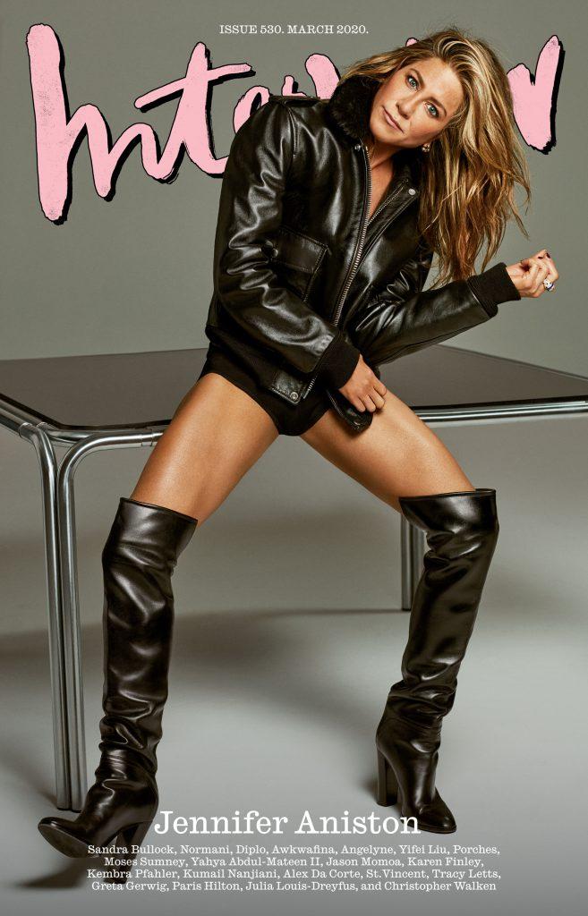 Jennifer Aniston en la tapa de la edición marzo 2020 de Interview Magazine.