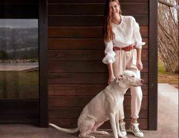 La modelo holandesa Luna Bijl posa para la campaña Primavera Verano 2020 de la marca española Mango.