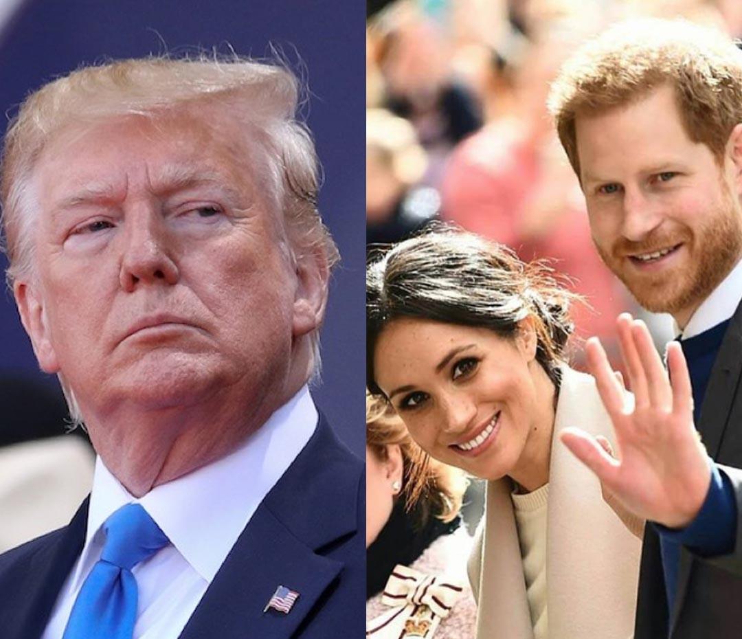 Meghan y Harry se mudaron a los Estados Unidos (y así les dio la bienvenida Donald Trump)