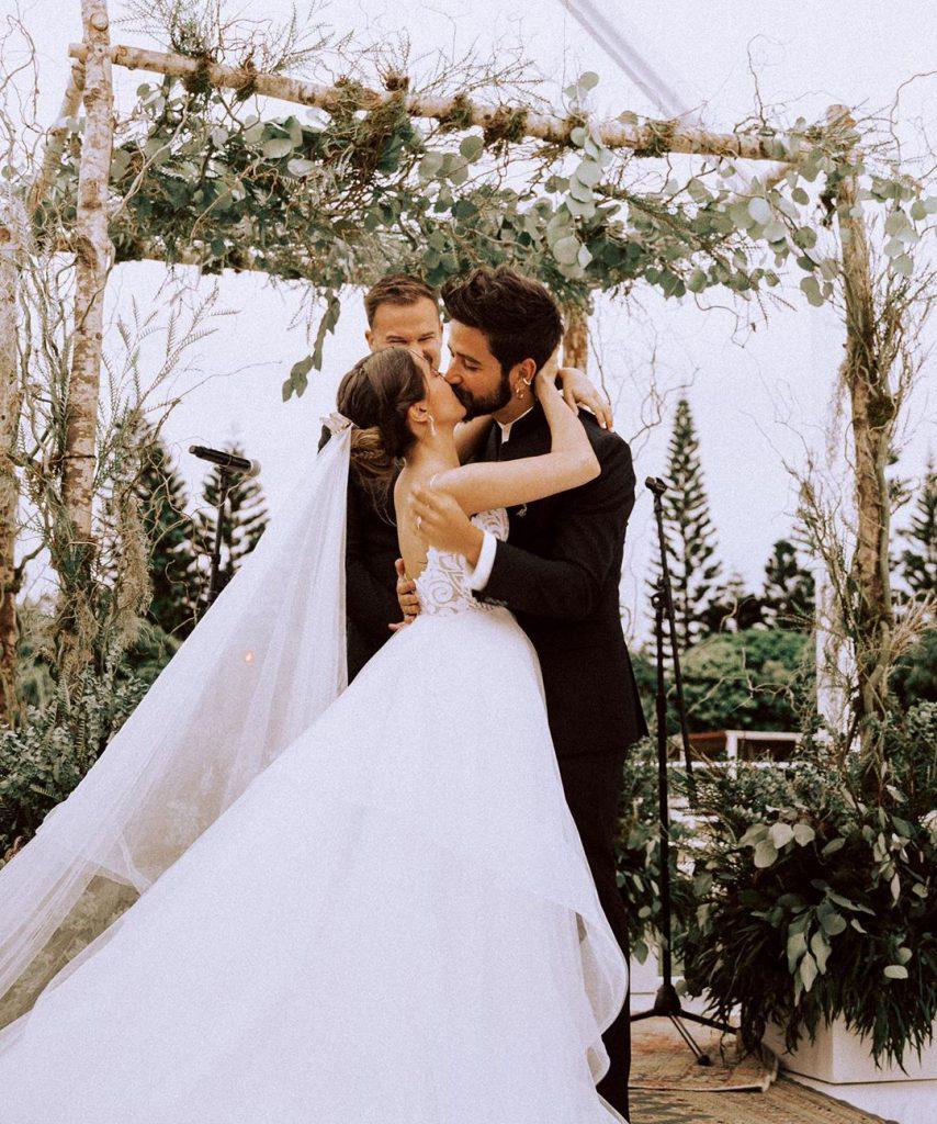 Evaluna y Camilo en el día de su boda, en febrero de 2020.