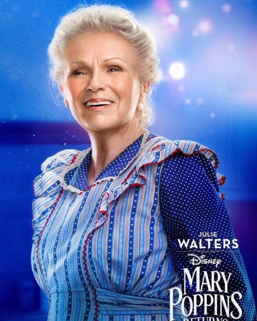 """Julie Walters, ícono del cine británico, no podía faltar en el revival de """"Mary Poppins""""."""
