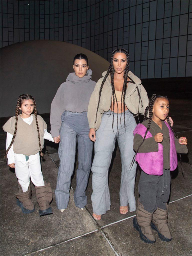 Kim Kourtney Kardashian North West