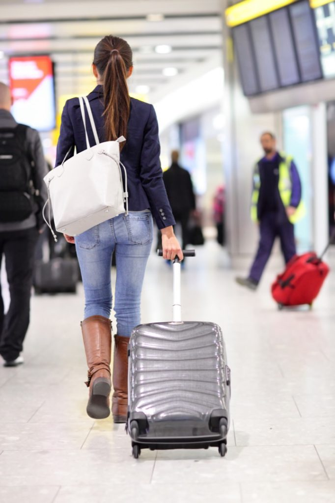 Mujer viajando