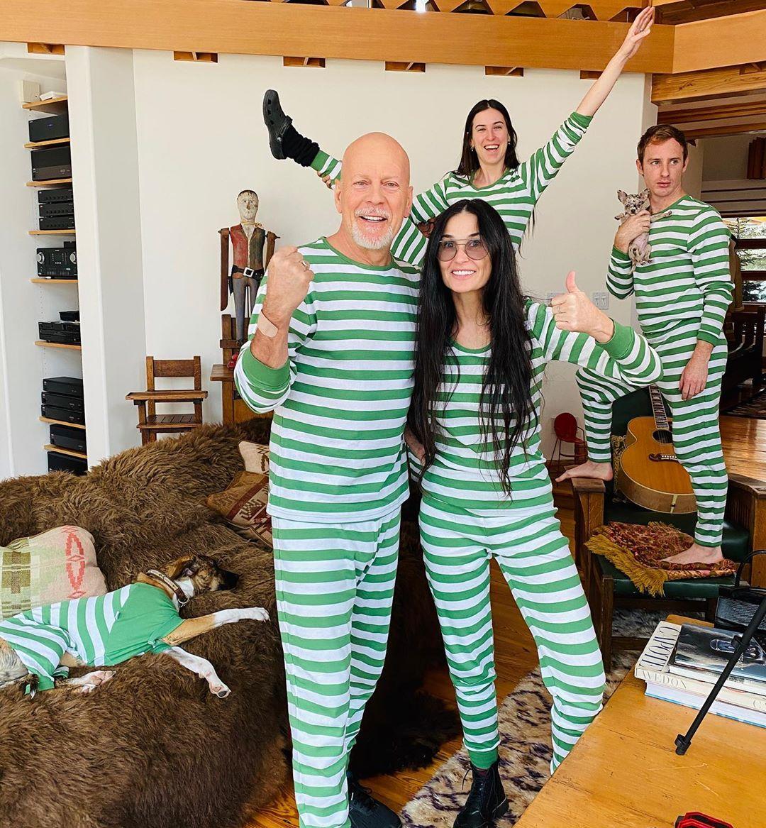 Bruce Willis  y Demi Moore volvieron a convivir (en cuarentena)