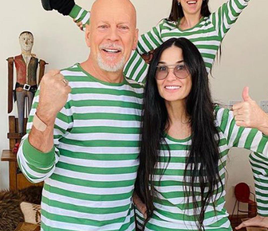 Por qué Bruce Willis pasa la cuarentena con Demi Moore (su ex) y no con su mujer actual