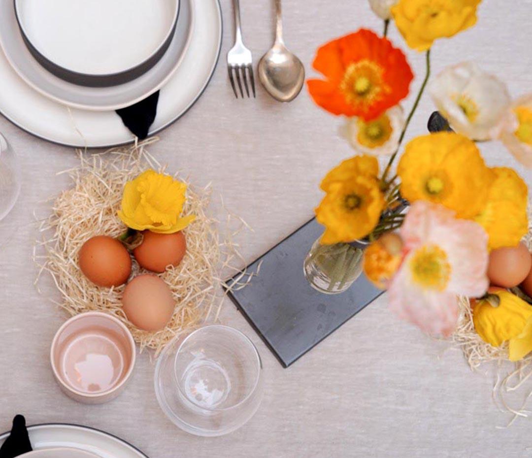 Mesas de fiesta (o cómo celebrar Pascuas puertas adentro)
