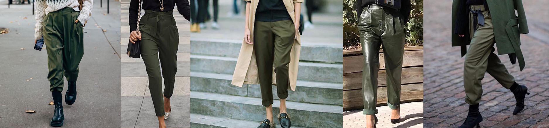 1,2,3... pantalones verdes otra vez (así se usan para volver a ser tendencia)