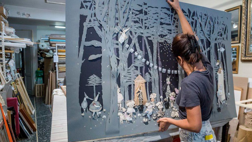 Lucila Biscione. Arte con papel