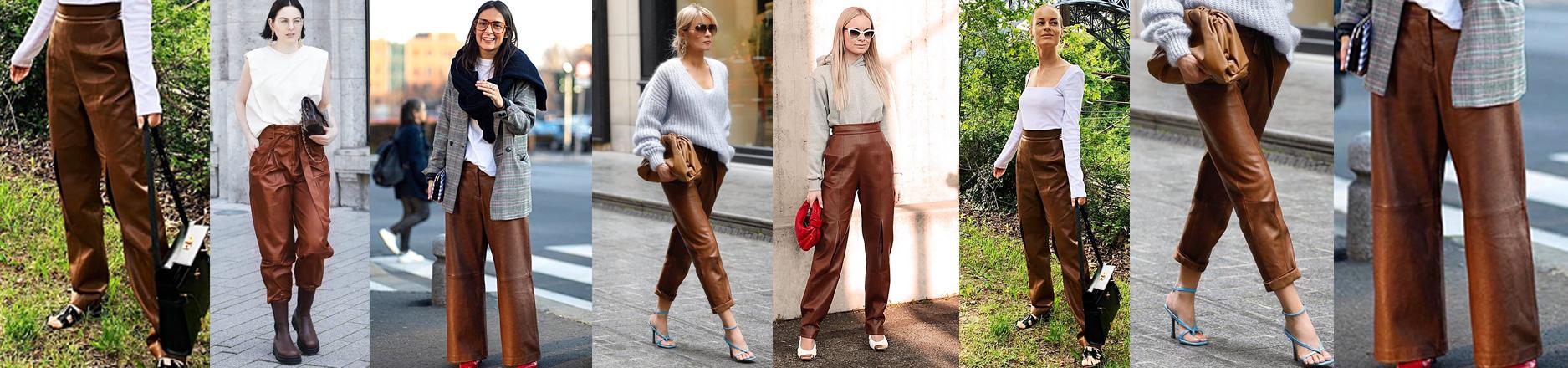 Los pantalones top del otoño-invierno 2020, con la textura y el color de la temporada