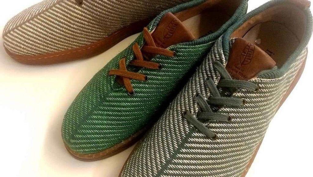 Indianes. Zapatillas hechas con fibra de banana