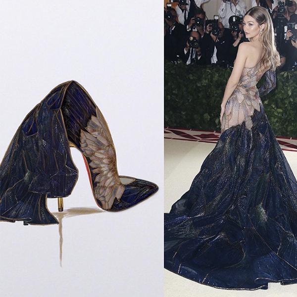 Mirá cómo estos vestidos de pasarela y red carpet se convirtieron en zapatos