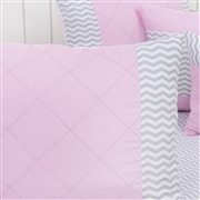 Kit Cama Babá Brooklin Chevron Rosa