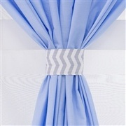 Cortina Brooklin Chevron Azul
