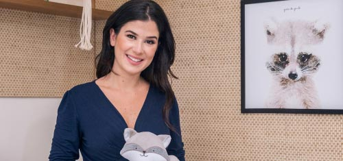 Renata Abravanel combina Tricot Luxo Branco com fofura dos bichinhos da floresta - Renata Abravanel