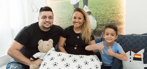 Bruna Karla surpreende filho Ben com Quarto Infantil Futebol - Bruna Karla