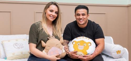Kauan e Sarah Biancolini apostam em clássico Disney para receber Arthur - Kauan