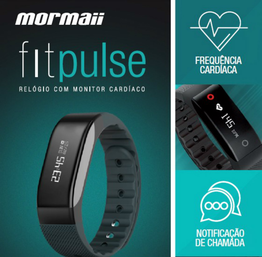 Você sempre conectado  O relógio Mormaii Fitpulse envia notificações de  chamadas, Facebook, Twitter e feed de notícias com temas personalizados. 47080a1c5e