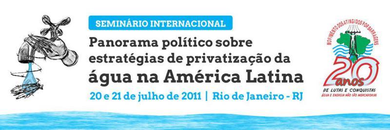 Seminário propõe articulação de movimentos da América Latina contra privatização da água