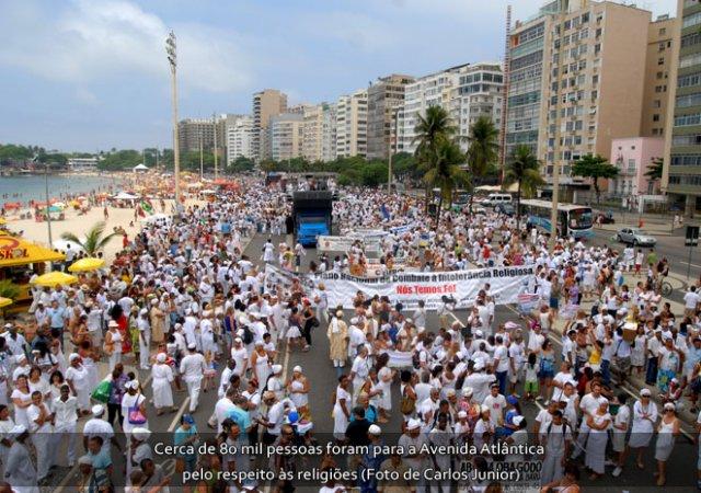 Caminhada contra a intolerância Religiosa: 180  mil pessoas lotaram Copacabana