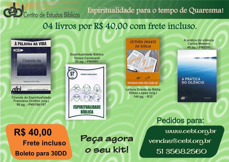 Espiritualidade para o tempo de quaresma: 4 livros por R$ 40,00